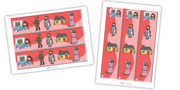 Little Red Riding Hood Display Borders - Little Red Riding Hood, traditional tales, display border, classroom border, border, tale, fairy tale, Wolf, Grandma, woodcutter, bed, cottage, forest, what big teeth you have