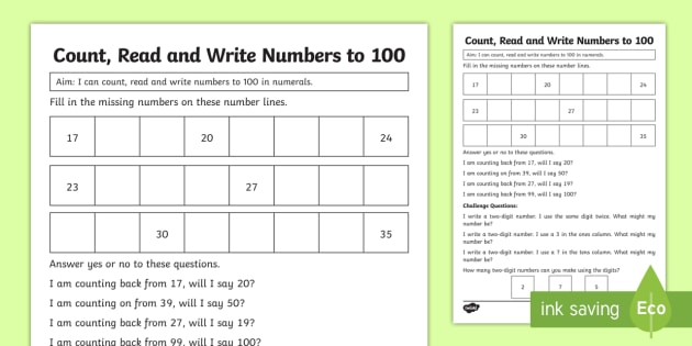 year 1 count read and write numbers maths mastery worksheet. Black Bedroom Furniture Sets. Home Design Ideas