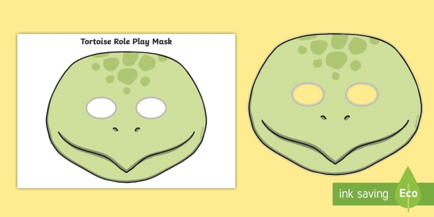 Tortoise Mask Template | Tortoise Role Play Mask Pets Pet Animal Animals Turtle