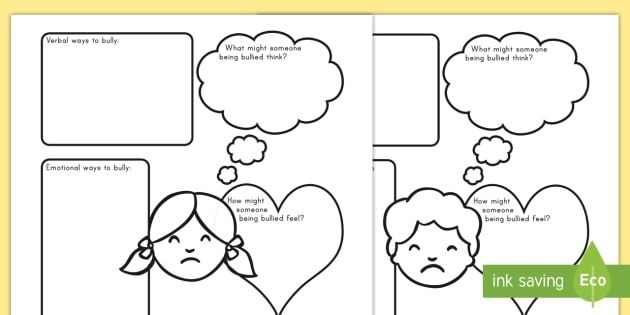 Bullying Worksheet / Activity Sheets - bully, bullying, special ...