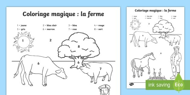 Coloriage Magique La Ferme Teacher Made