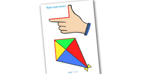 Right Angle Finders - right angle finders, right angle, 90, degrees,  finding right angles, find, angle, angles, Math, maths, KS2