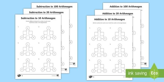 new ks1 arithmagons addition and subtraction worksheets addition. Black Bedroom Furniture Sets. Home Design Ideas