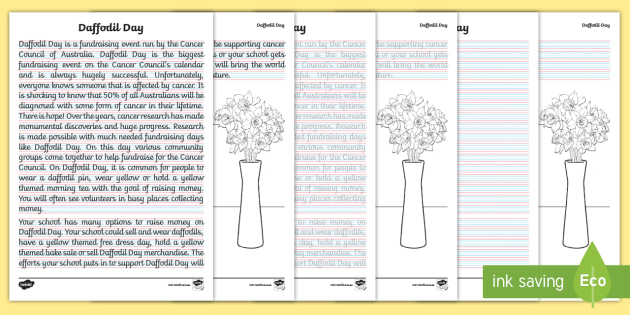 new daffodil day years 3 4 handwriting worksheets letter formation. Black Bedroom Furniture Sets. Home Design Ideas