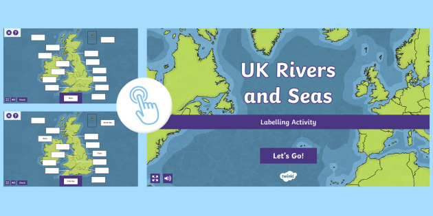 Map Of England For Ks1.Go Teach Rivers Label Uk Seas And Rivers Interactive Activity Ks1 Ks2