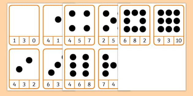 Dot Counting Peg Matching Game