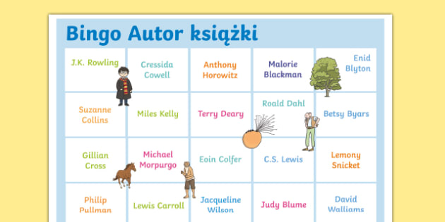 Polish Book-Author-Bingo-A3-Display-Poster-Polish