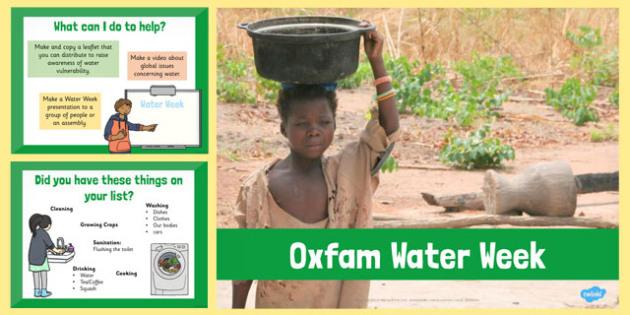 Oxfam Water Week PowerPoint - oxfam, water, week, powerpoint