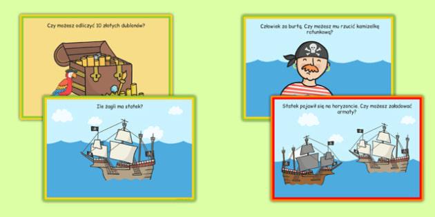 Karty z wyzwaniami Statek piracki po polsku - piraci, lato