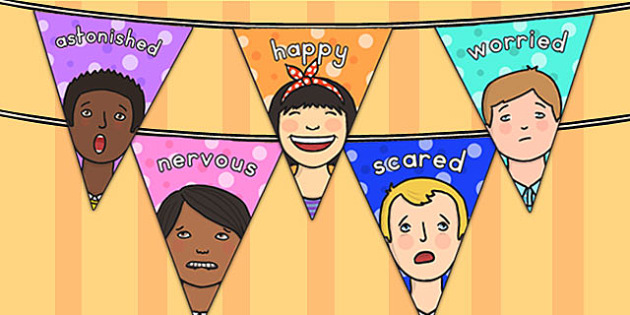 Emotions Display Bunting - emotions, feelings, ourselves, bunting