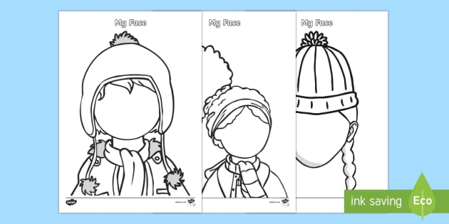 Winter Themed Blank Face Templates Activity