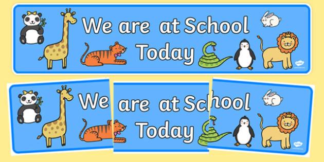 Self Registration Banner (Animals) - animals, self-registration,animal registration, Banner, Classroom labels, Area labels, Area Signs, Classroom Areas, Poster, Display, tiger, lion, dog, cat