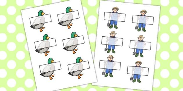 Farmer And Duck Editable Self-Registration - farmer duck, editable, self registration, self reg, daily routine, pupil registration, themed self registration