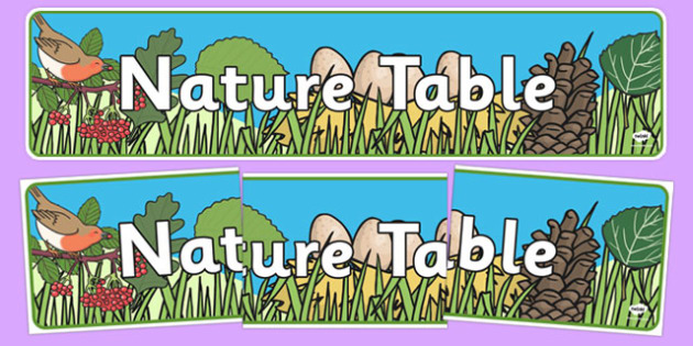 Nature Table Display Banner - nature, nature table, natural