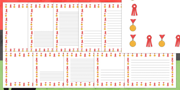 Black History Month Medal Page Borders - black history month, medal, page borders