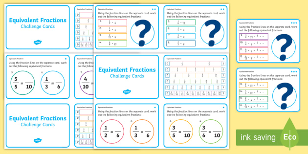 Fractions Challenge Cards - fraction, numeracy, maths