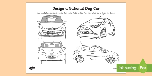 UAE National Day   design a car cover Worksheet / Activity Sheet