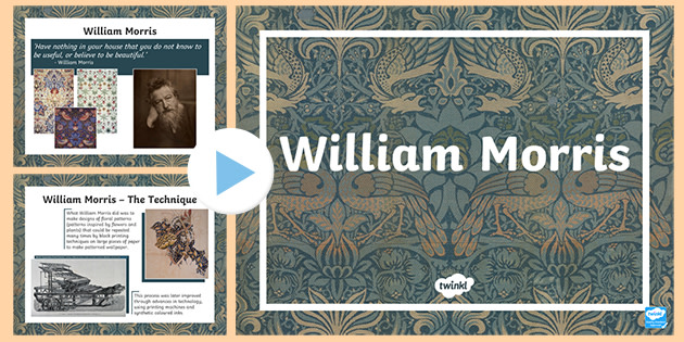 William Morris Ks1 Ks2 Powerpoint Primary Resources