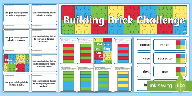 Building Brick Challenge Area Pack Challenges Games