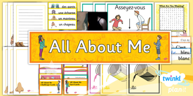 French: All About Me Year 3 Additional Resources