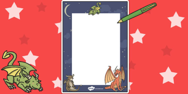 Dragon Themed Editable Note - editable note, note, dragon, edit