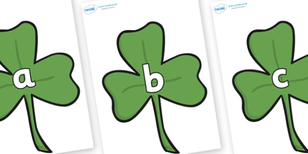 Phase 2 Phonemes on Clovers - Phonemes, phoneme, Phase 2, Phase two, Foundation, Literacy, Letters and Sounds, DfES, display