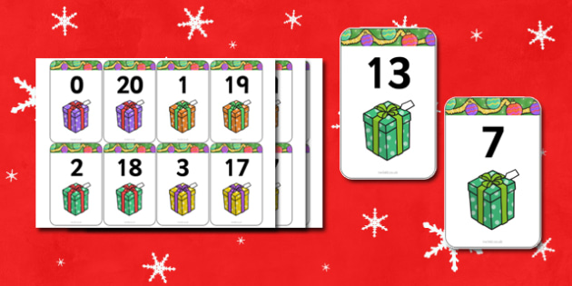 Number Bonds to 20 Matching Cards (Presents) - Number Bonds, presents, present, Matching Cards, Number Bonds to twenty, counting, number recognition, christmas, xmas