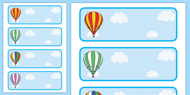 editable drawer peg name labels  striped hot air balloons curriculum clipart curriculum clip art images