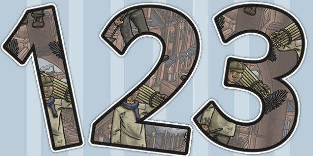 The Industrial Revolution Themed Display Numbers - industrial revolution