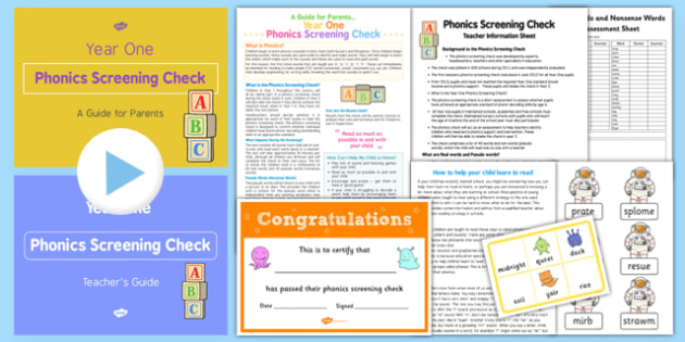 Phonics Screening Check Teacher Resource Pack - phonics screening check, teacher, resource pack