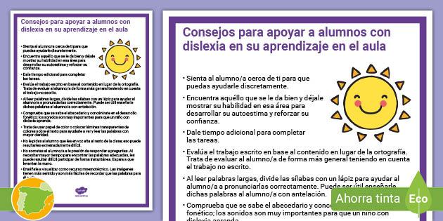 Guia Para Adultos Apoyar A Alumnos Con Dislexia En El Aula