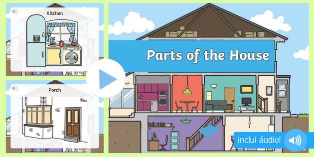 Partes da casa powerpoint com udio em ingl s partes da for Distribucion de una casa