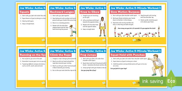 Joe Wicks: Active 8-Minute Workout 1 Cards