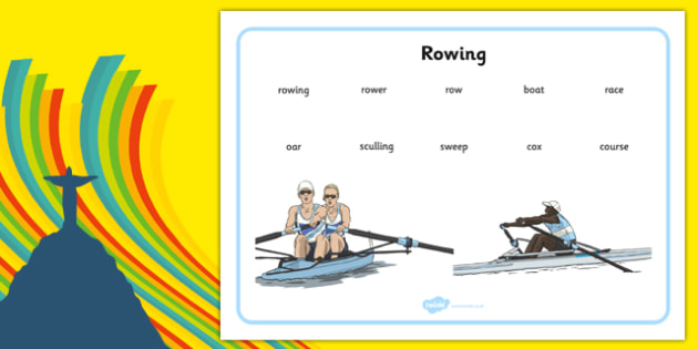 The Olympics Rowing Word Mat - Rio, events, Olympic, row, literacy, writing