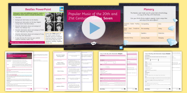 Popular Music of the 20th and 21st Centuries: Lesson 7 - Music, Secondary, KS4, Popular, Listening