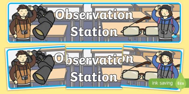 Observation Station Display Banner - observation station, display banner, display, banner