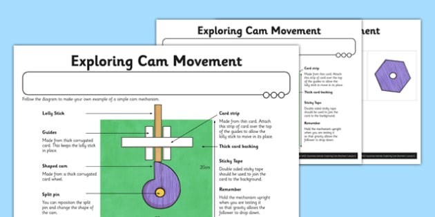 Automata Animals - Differentiated Exploring Cam Movement Activity Sheet - mechanical systems, automata animals, worksheet