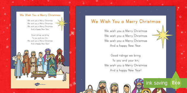 Merry christmas song lyrics english