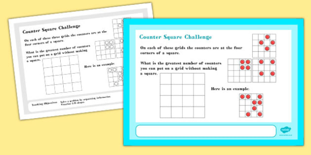 Counter Maths Challenge A4 Display Posters - challenge, display