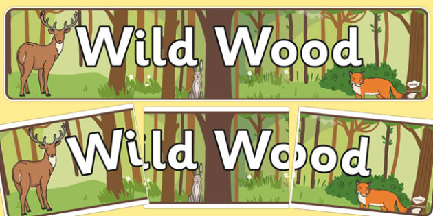 Wild Wood Themed Banner - displays, banners, poster