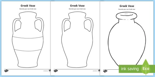 design a greek pot decorate a greek vase greek vase template