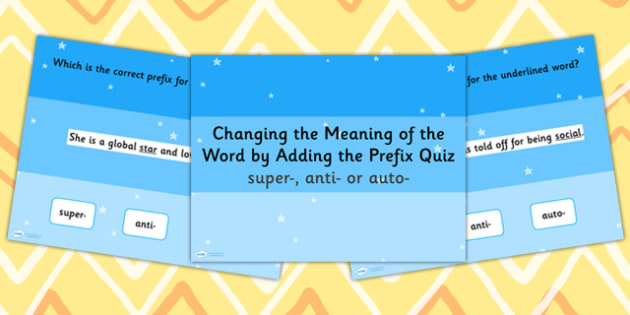 Changing the Meaning of the Word by Adding Prefix SPaG PowerPoint