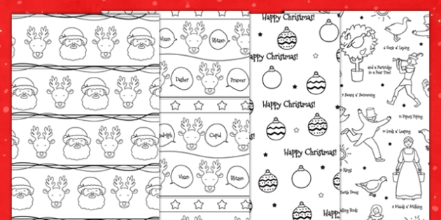Christmas Printable Wrapping Paper - festivities, wrap, decorate