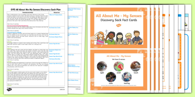 EYFS Ourselves All About Me My Senses Discovery Sack Plan And Resource Pack - Early Years, KS1, sight,taste, hearning, touch, smell, UTW