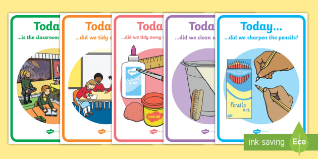 Tidy Up Classroom Posters - Tidy Up, Classroom Posters