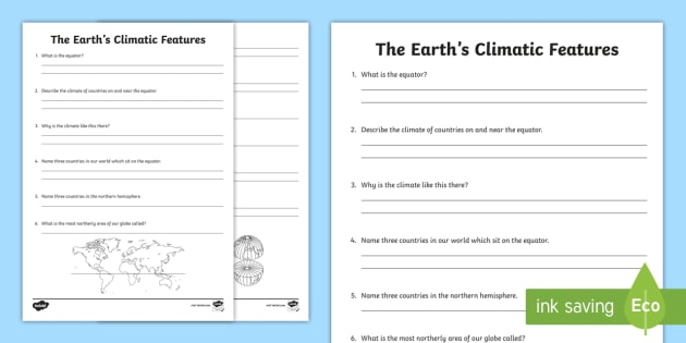 Earths climatic features worksheet activity sheet world earths climatic features worksheet activity sheet world around us ks2 northern ireland gumiabroncs Gallery