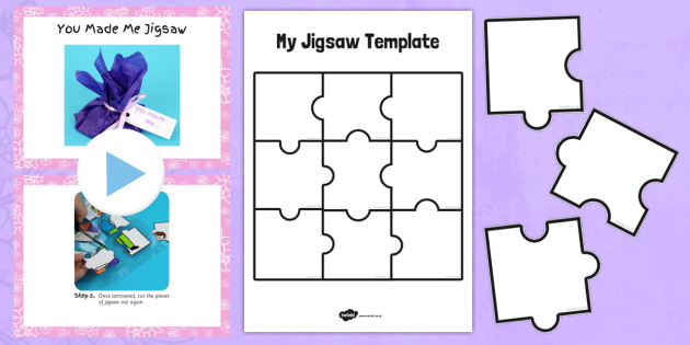 You Made Me Jigsaw Craft Instructions PowerPoint - craft, powerpoint, jigsaw, instructions, you made me