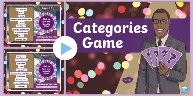 Categories Game Teacher Made