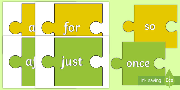 Subordinating and Co-ordinating Conjunctions on Jigsaw Pieces - connectives, coordinating conjunctions, subordination