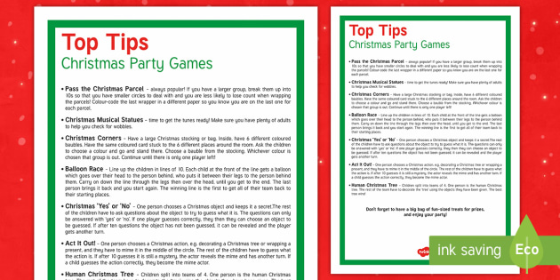 christmas party games display poster christmas xmas party